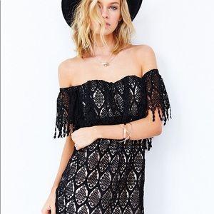 Stone cold fox 🦊 Black Iowa mini dress xs small